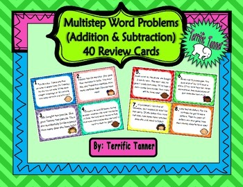 Multistep Word Problem Task Cards - Addition and Subtracti