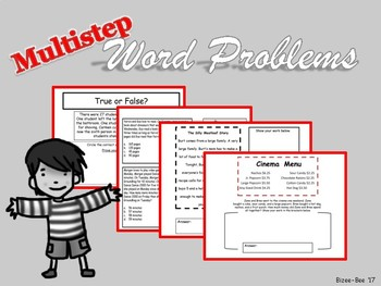 Word Problems NO PREP Multistep