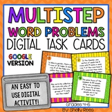 Multistep Word Problems - Digital Task Cards Google Classroom