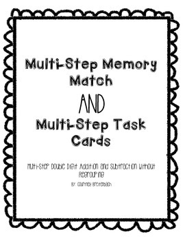 Multistep Word Problems Memory Match and Task Cards
