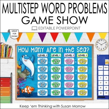Multistep Word Problems: Additition and Subtraction PowerPoint Game
