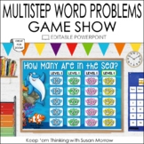 Multistep Word Problems Game Show: An Editable Addition and Subtraction Game