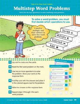 Multistep Word Problems (Take It to Your Seat Centers Common Core Math)