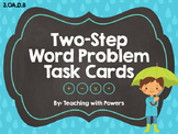 Two Step Word Problems Task Cards