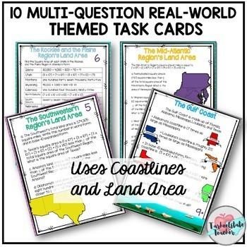 Multistep Word Problems Task Cards Bundle