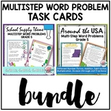 Multistep Word Problems Task Cards Bundle