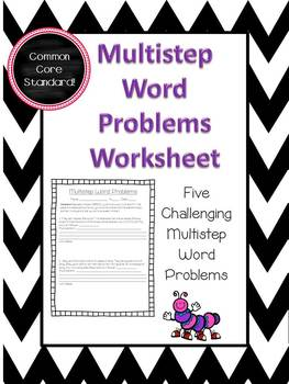 Multistep Word Problems Worksheet