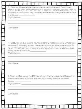 Multistep Word Problems Worksheet