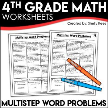 Multistep Word Problems Worksheets