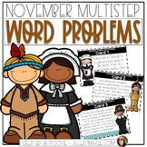 Multistep Word Problems for November: 2-Digit Addition and Subtraction