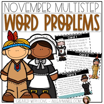 Multistep Word Problems for November: 2-Digit Addition and