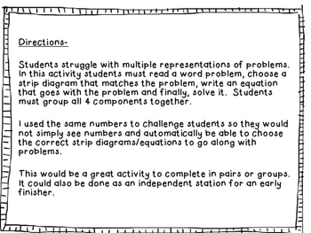 Multistep Word Problems with Strip Diagrams 4.5A