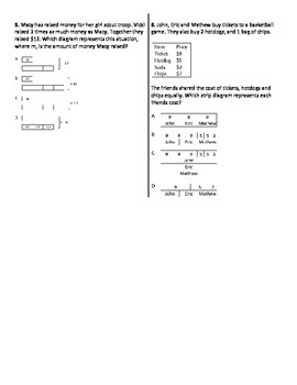 multistep word problems with strip diagrams worksheet by ... eye diagram label the 4th grade worksheets printable strip diagram 4th grade multi step math #6