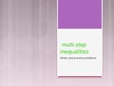 Multistep one variable inequalities powerpoint
