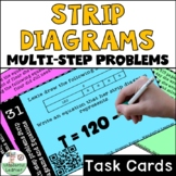 Multistep problems with strip diagrams and equations Task Cards
