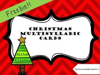 Multisyllabic Christmas Cards