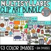 Multisyllabic Clip Art BUNDLE • Speech Therapy/Phonics • S