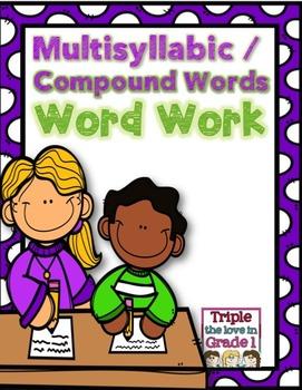 Multisyllabic/Compound Words Word Work