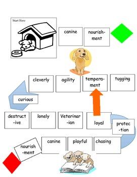 Multisyllabic Decoding Intervention  Bad Dog Game (Gr. 3-5)