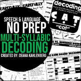 Multisyllabic Decoding {No Prep Practice}