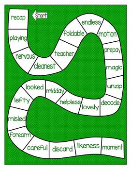 Multisyllabic Game Boards