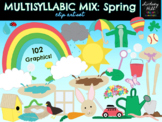 Spring Clip Art Set: Multisyllabic Mix {102 Images!}