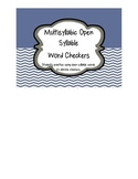 Multisyllabic Open Syllable Word Checkers