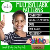 Multisyllabic Patterns Spelling Word Work Unit