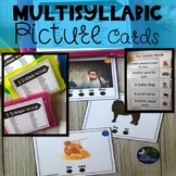 Speech Therapy Multisyllabic Picture Cards/Sentence Completion