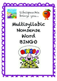 Multisyllabic Reading BINGO