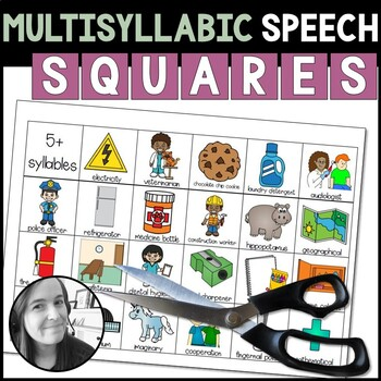 Multisyllabic Speech Squares: Cards for Articulation Activities