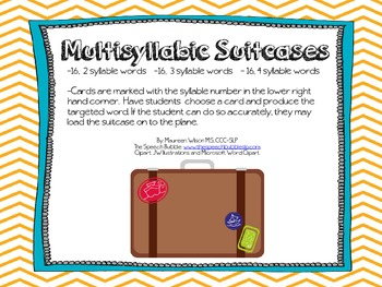 Multisyllabic Suitcases