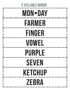 Multisyllabic Word Flash Cards