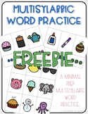 Multisyllabic Word Practice - Free Sample