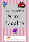 Multisyllabic Word Puzzles