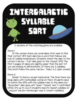 Multisyllabic Word Sort