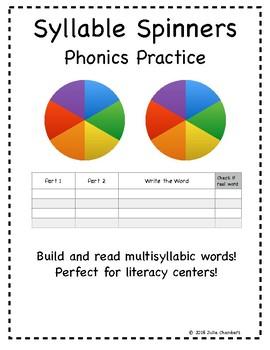 Multisyllabic Word Spinners