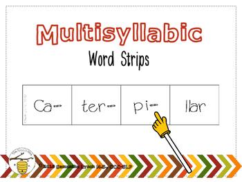 Multisyllabic Word Strips