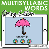 Multisyllabic Word Syllable Segmentation Boom Cards   Speech  Distance Learning