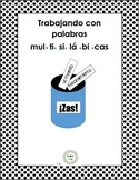 Multisyllabic Word Work / Trabajo con palabras multisilabicas