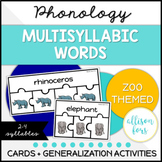 Multisyllabic Words Multi-Level Activities
