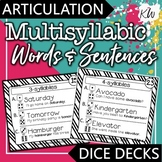 Multisyllabic Words Speech Therapy Articulation Game