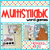 Multisyllabic Words: Artic, Phonological Awareness, Apraxia, Speech Therapy