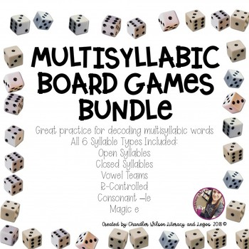 Multisyllabic Words Board Game BUNDLE