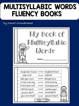 Free Multisyllabic Words Fluency Booklet By Dana S