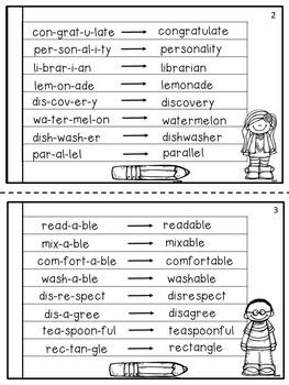 FREE Multisyllabic Words Fluency Booklet