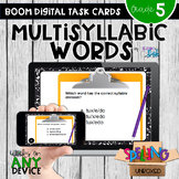 Multisyllabic Words Boom Cards - Distance Learning