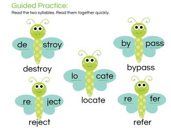 Multisyllabic Words - Open Syllables