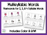 Multisyllabic Words Flashcards {2, 3, & 4 Syllable Words}