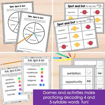 Multisyllabic Words Intervention Activities- Spot and Dot Volume 2